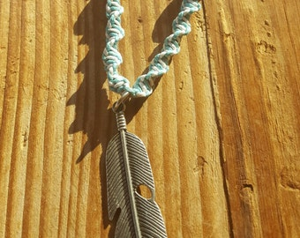 Custom Hemp Necklace with Metal Work