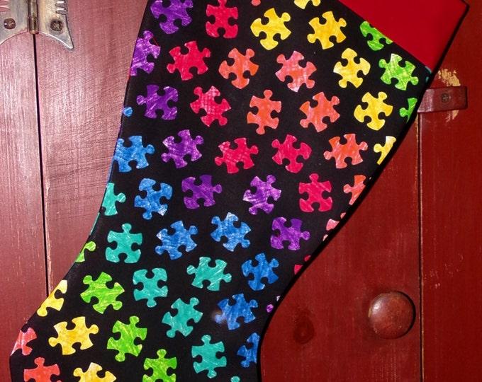 Autism Awareness Christmas Stocking