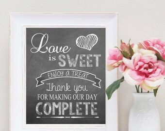 INSTANT DOWNLOAD Candy Buffet Sign, Wedding Candy Sign, Chalkboard Candy Sign