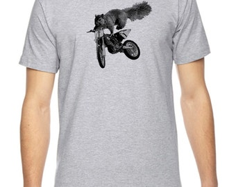 Squirrel Motocross Graphic American Apparel Fine Jersey T-Shirt RC14166