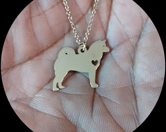 Pembroke welsh corgi necklace engraving pendant sterling for Jewelry engraving gainesville fl