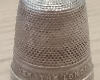 Vintage James Walker sterling silver thimble