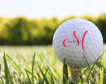 SHIPS FAST, Monogram Golf Balls for Couple, Personalized Wedding Golf Balls, Golf Wedding Favors, Groomsman Golf Gift, Engagement Gift - S13