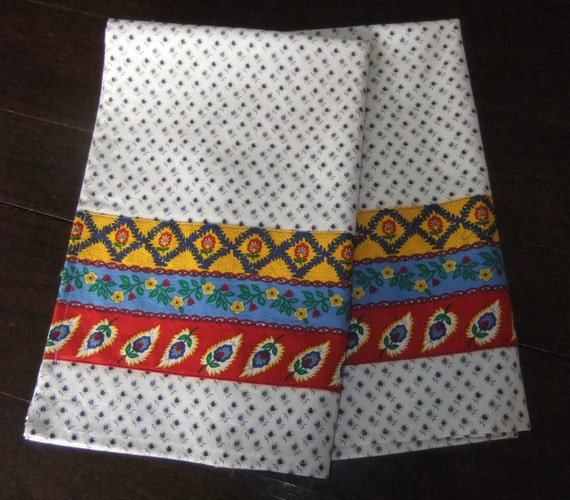French Country Kitchen Towels Provincial Cotton Fabrics Pair