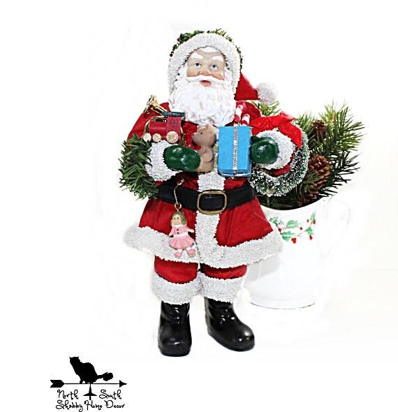 Good Tidings Santa Vintage Clothtique Possible Dreams Santa