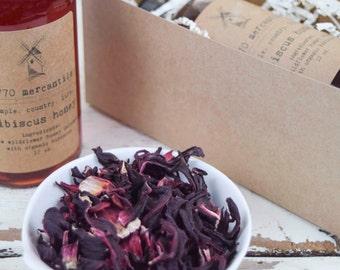 Organic Hibiscus infused raw widlflower honey