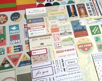 12 travel planner sticker vintage travel stickers travelling stickers Daily deco sticker Vintage design sticker set travel masking sticker