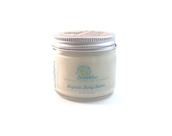 Organic Baby Butter! Moisturizer with Certified Organic Ingredients for Babies! Moisture Barrier to keep Babies Skin Soft & Protected!