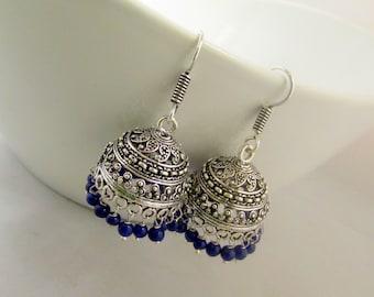Oxidized Jhumki Dangle Earrings
