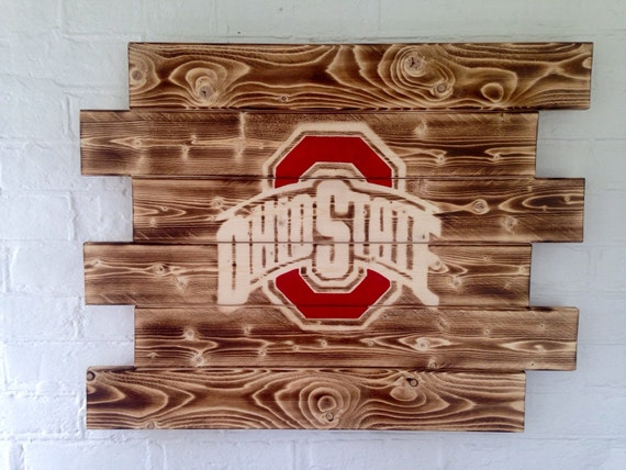 Ohio State Man Cave Signs : Ohio state buckeyes painted wood sign man cave