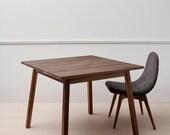 Solid walnut dining, breakfast table hardwood black walnut mid century modern contemporary handcrafted design - Washington Square by bff