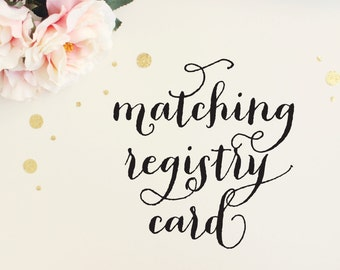 Matching Gift Registry Card