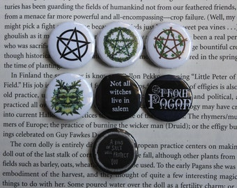 Pagan Pride set of 7 pin-back buttons