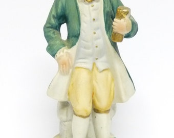 Porcelain Figurine, Regency/Colonial Style Statue, Mr D'Arcy Style Ornament, niknak, hand painted