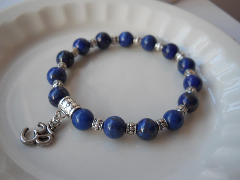 lapis lazuli stretch bracelet third eye chakra jewelry. Black Bedroom Furniture Sets. Home Design Ideas