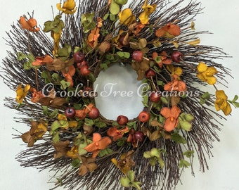 Fall Wreath, Autumn Wreath, Harvest Wreath, Wispy Wreath, Fall Floral, Fall Door Decor, Berry Wreath, Fall Wreaths, Rustic Wreath, Fall