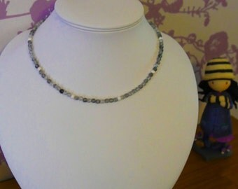 Cloudy Quartz and Sterling Silver Necklace