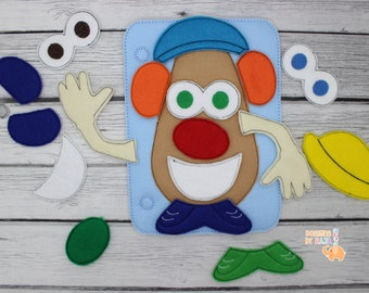 Build a Potato Mr quiet book page, busy book page, educational toys, felt activity book, toddler learning, montessori toys, christmas gifts