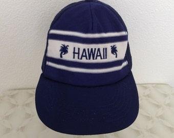 "Vintage Baseball Cap - ""Hawaii"" - Navy blue - good used condition"
