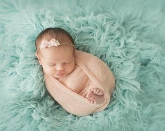 Bow Headband, Halo Headband, Pink Headband, Pink Halo Headband, Girl Props, Newborn Headband, Photography Props, Photo Props, Newborn Props