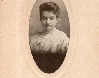Antique Photo of Snarky Young Lady