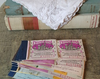 Vintage Disneyland Ticket Booklets - Lot of 9 Booklets 1970s-1980s