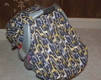Custom Giraffe Car Seat Cover/Canopy - You pick your colors