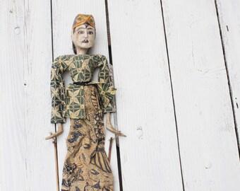 Sale - Vintage Indonesian Stick Puppet / Wayang Puppet / Rod Puppet
