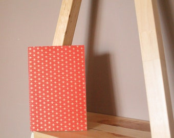 "Hand-bound book ""Tess - red & gold"""