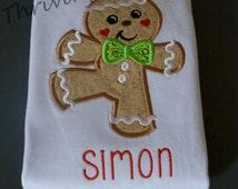 Personalized Dancing Gingerbread boy or girl! Cute Christmas shirt/onesie!