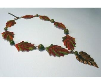 Autumn Faerie necklace