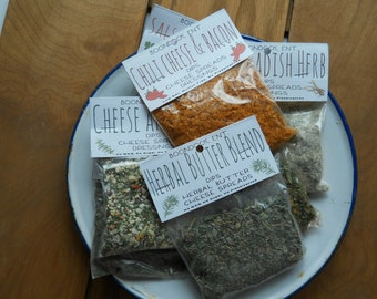Dried Dip Mixes - All Natural Seasoning Mix - Dried Seasoning Mix - Gluten Free - No MSG, sodium, salt - Party Dip Mix - Vegetable Dip Mix
