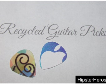Upcycled Mother&Child Gift Card Guitar Picks