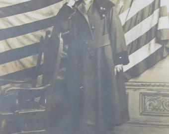 1910's World War I Era Pretty Little Patriotic Woman RPPC Real Photo Postcard - Free Shipping