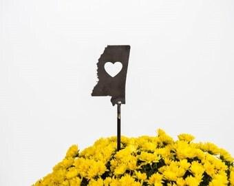 Mississippi State Heart Garden Art Stake