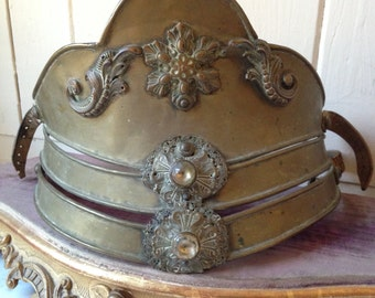 1800s antique French helmet / parade ornament / costume hat