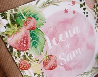 Printable Wedding Invitation, Wedding Invitation Template, Wedding Invitation, Wedding Invites, Farm Wedding Invitations, Pink Invitation