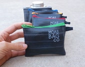Bike Coin Purse - Minimalist Wallet - Recycled Inner Tube Zipper Pouch - Bike Accessories