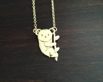 Koala, Koala Bear, Koala Necklace, Koala Jewelry, Koala Bear Necklace, Koala Bear Jewelry, Gold Koala Necklace, Gold Koala, Koala Pendant