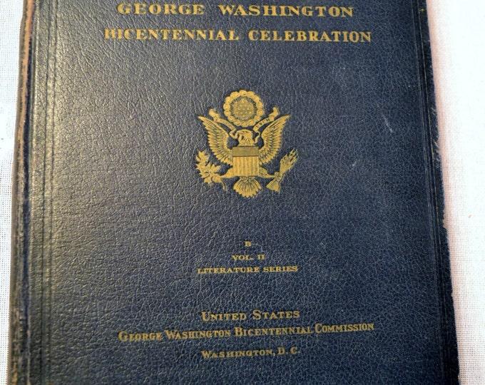 History George Washington Bicentennial Vol II Vintage Book American President History PanchosPorch