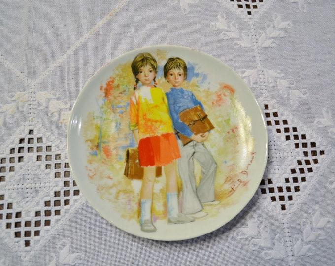 Vintage Limoges Emilie and Philippe Decorative Plate Paul Durand Collectible Panchosporch