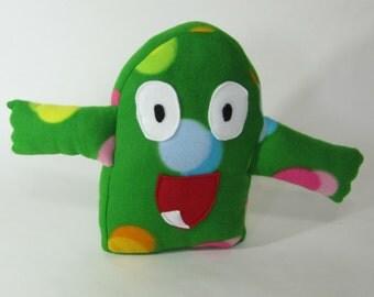 Monstar Plushie - Jolly Green - huggable monster friend plush stuffed animal