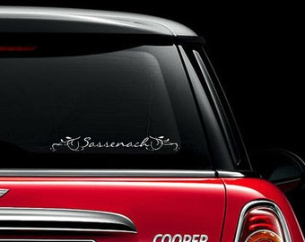 Sassenach Outlander inspired vinyl decal