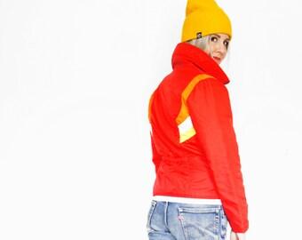 Vintage 70's/80's Retro Ski Jacket - Aspen - Red Orange Yellow White - Women's Small Medium