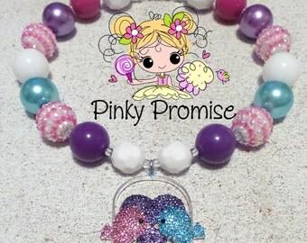 Sweet Lovebirds Valentine Chunky Child/Toddler Necklace