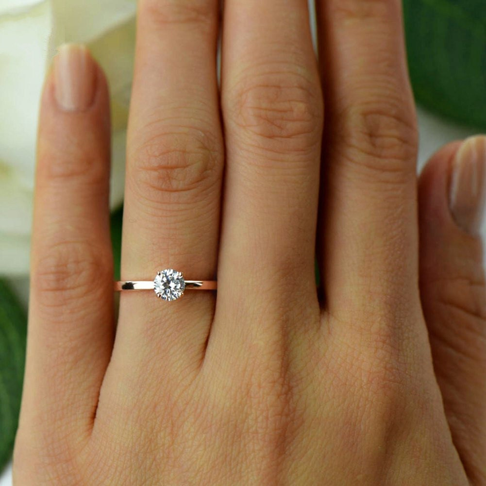 1 2 ct promise ring engagement ring solitaire ring made