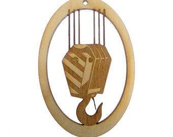 Crane Hook Ornament - Crane Operator Gifts - Heavy Equipment Gift - Construction Ornament - Personalized Free