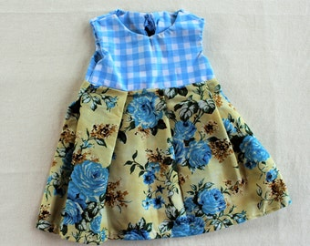 Blue Rose Pleated Dress // size 6 months - 12 months