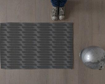 Modern rug / Swedish home / Area rug / Bathroom rug / Minimalist / Carpet / Grey rug / Made to order / Striped rug / Mat / Contemporary