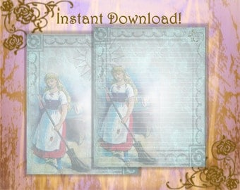Cinderella, Fairy Tale Stationery, Brothers Grimm, Fairy Tale, Writing Paper, Fairy Tale Writing Paper, Letter Writing